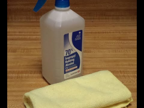 Here are the health benefits of using rubbing alcohol