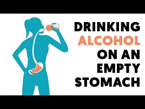 What happens when you drink alcohol on an empty stomach?