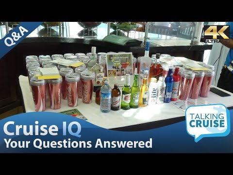 Cruise iq - can i bring food or beverages onboard?