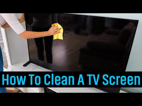 How to clean a tv screen - without damaging it!