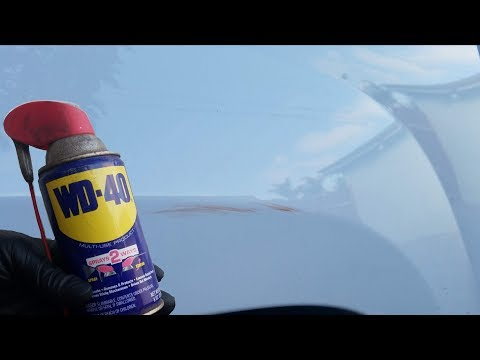 Wd 40 vs rubbing compound | how to remove paint scuffs on your car