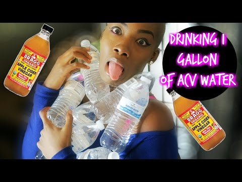 Watch me drink 8 bottles of acv water while 24hr fasting & my next day results