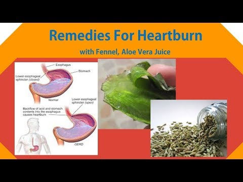 Natural remedies for heartburn with fennel, aloe vera juice