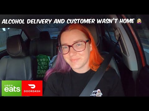 Had to wait on customer to get home to deliver alcohol! he tipped me $20 | ubereats and doordash