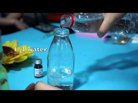 (diy style )make a beauty glass bottle gift for personalised gifts by yourself -step by step