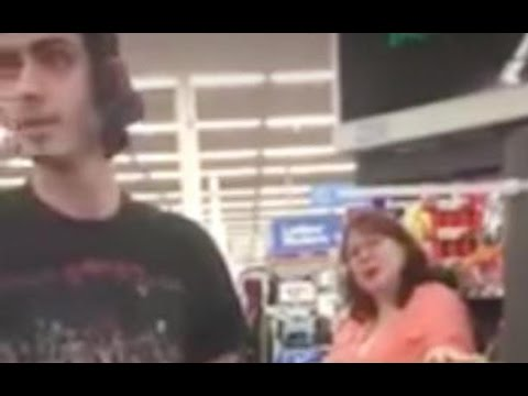 Woman scolds man for using food stamps (video)