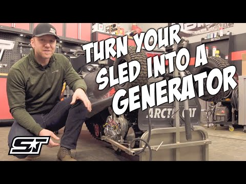 Track-powered pto - turn your snowmobile into a generator