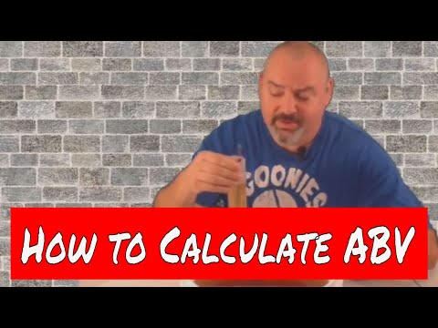 How to calculate alcohol by volume (abv)