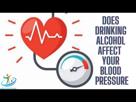 Does drinking alcohol affect your blood pressure