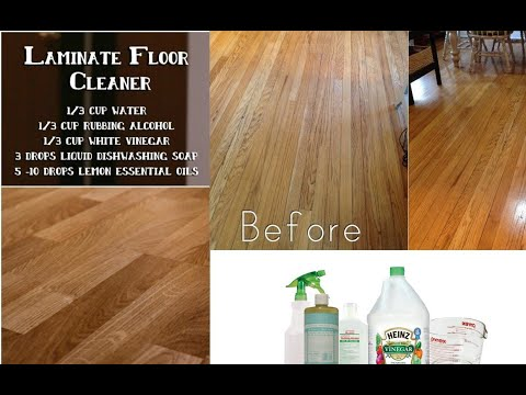 How to clean laminate floors with rubbing alcohol?