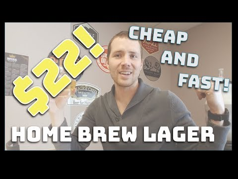 """How to brew beer cheap and fast! $22 homebrew light lager in under 2 hours - """"bud light clone"""""""