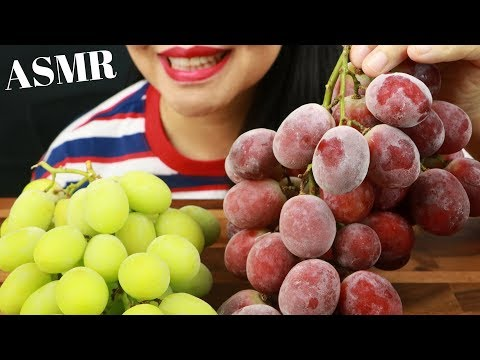 Frozen grapes eating sounds ~ asmr (no talking) eat life with kimchi