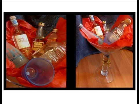 Diy gift basket with alcohol