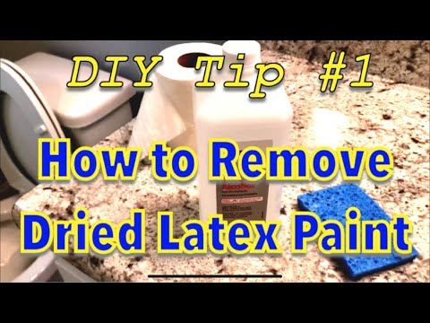 How to remove dried latex paint!