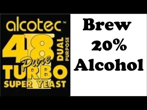 Complete guide to brewing 20% alcohol - using turbo yeast alcotec 48
