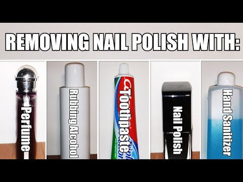 Removing nail polish at home without acetone || testing different methods of removing nail polish