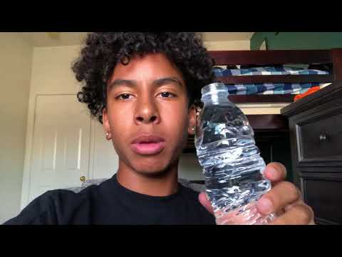 How to drink a bottle of water in 1 second! (video demonstration)