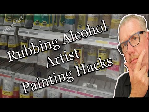 8 unusual uses for rubbing alcohol, hacks | acrylic painting|#clive5art