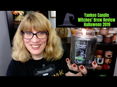 Yankee candle witches' brew review halloween 2019