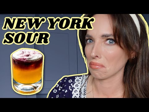 Whiskey fan drinks a new york sour for the first time | red wine whiskey cocktail | ciara o doherty