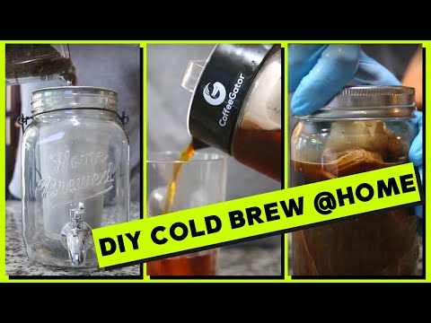 How to brew cold brew coffee at home