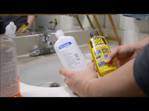 Using isopropyl alcohol quickly & effectively remove hard-to-peel labels & stickers