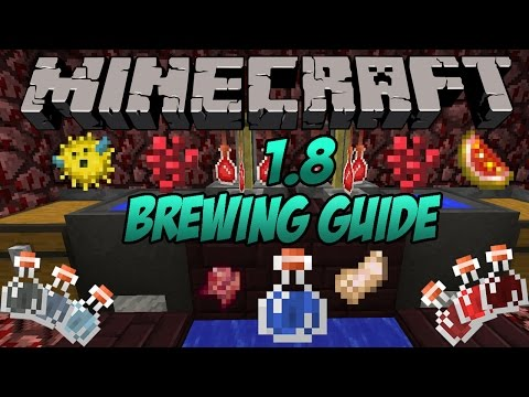 Minecraft 1.10 brewing   how to make every potion in minecraft