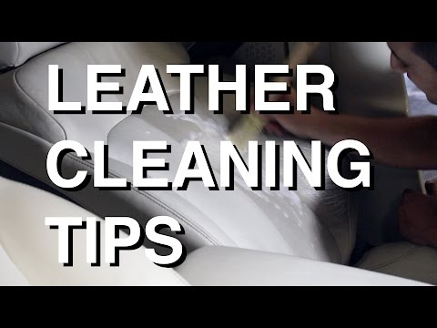 How to safely clean leather seats