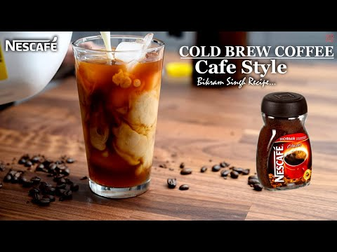 Nescafe cold brew coffee | cafe style cold brew coffee | how to make cold brew coffee