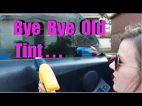 How to easily remove window tint and glue