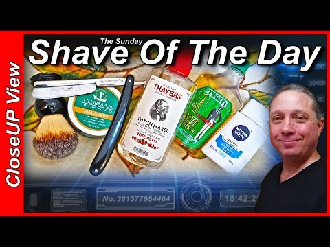 Your sunday closeup view shave of the day with clubman pinaud