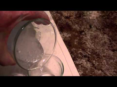 Cooling rubbing alcohol with dry ice -isopropyl 91 and carbon dioxide ice