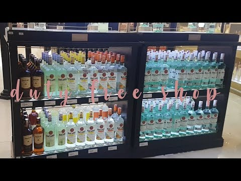 Duty free shops inside malaysian airport and food court reviews