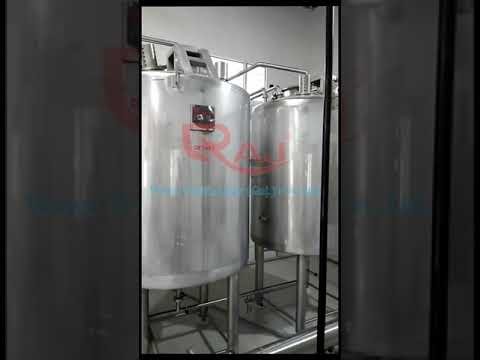 Syrup room for carbonated soft drink plant