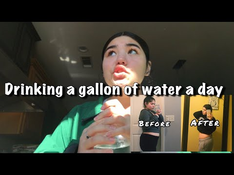 Drinking a gallon of water a day for a week | 2 miles