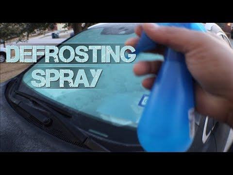 Life hacks: using alcohol & water solution to defrost your windshield