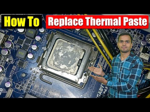 How to replace thermal paste with new paste - step by step | all about technology