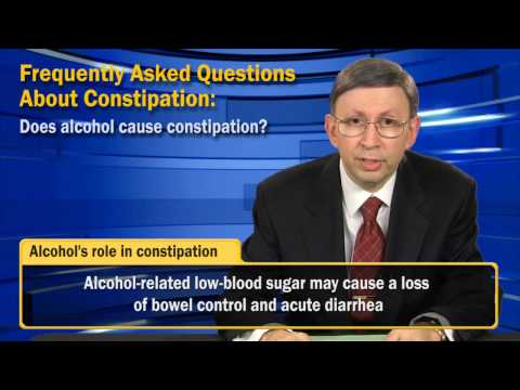 Does alcohol cause constipation?