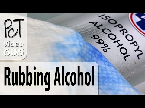 Rubbing alcohol - a must have for every polymer clay studio