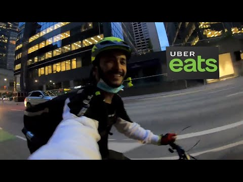 Uber eats in canada | delivering alcohol with uber eats | cycle vlog