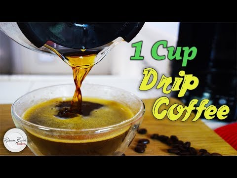 Recipe for one cup of drip coffee | exact measurements and instructions