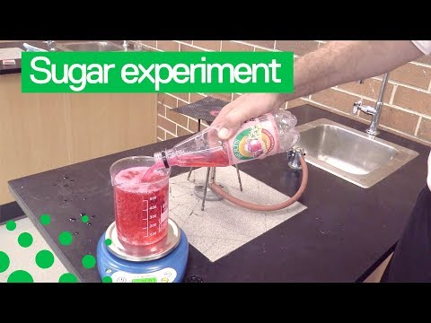 Science teacher shows how much sugar is in fizzy soda drink