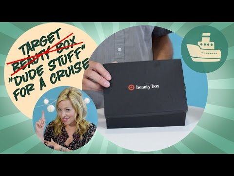 Target beauty box for men for a cruise