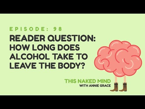 Ep 98: reader question - how long does alcohol take to leave the body?