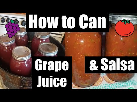 How to can salsa 🌶 : how to can grape juice 🍇