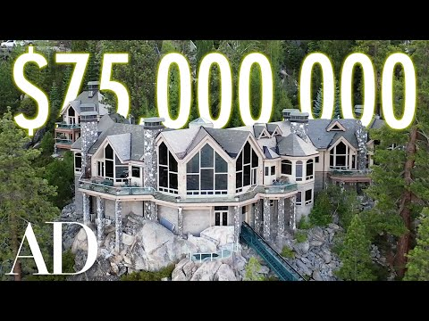 Inside a $75m lake tahoe mansion with a hillside tram | on the market | architectural digest