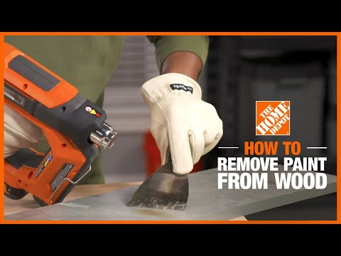 How to remove paint from wood without chemicals or sanding