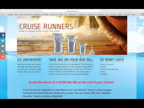 """Smuggle alcohol onto a cruise """"updated"""" 2015-16 new policy info!"""