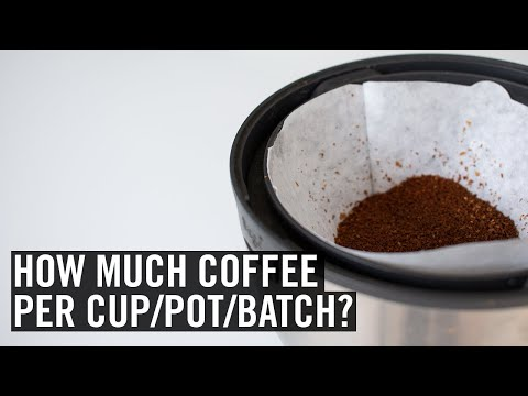 Coffee brewing ratios explained
