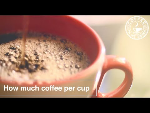 How much coffee per cup: measuring the coffee to water ratio